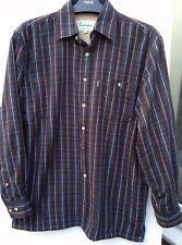 CHAMPION Sherborne Uomini al Caldo Micro Pile Foderato Imbottito Inverno Check camicia taglia M