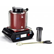 1 KG Gold Melting 220V Furnace Kiln Machine Refining Casting Ingot Molds Silver