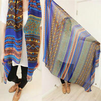 New Pretty Long Soft Women Fashion Chiffon Scarf Wrap Shawl Stole Scarves