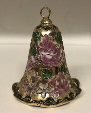 Vintage Cloisonne Christmas Bell Ornament