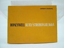 ORIGINAL HONEYWELL PENTAX STROBONAR 360A CAMERA FLASH OWNERS MANUAL