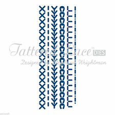 6 Tattered Lace Stitches Dies + FREE Stephanie Weightman Die Cuts- Sewing Theme