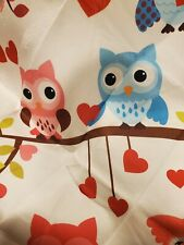 New listing 5' Diameter Area Rug Floor Mat Owls With Hearts Colorful
