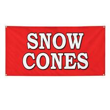 Vinyl Banner Multiple Options Snow Cones Food Fair Truck Restaurant Cart Outdoor