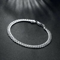 "Genuine 925 Sterling Silver Chain Bracelet (8.5"""" / 20.5cm) Bridesmaid GIFT BAG"