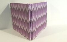 8 x 8 Purple/Lilac Glittery  Bound Scrapbook. 10 double sided pages