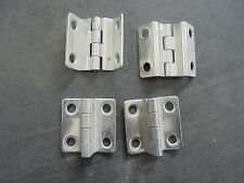 "847146 OFF SET HINGE 1 1/2"" X 1 1/4"" STAMPED STAINLESS STEEL 4 PACK"