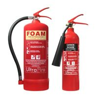 6ltr Foam & 2kg CO2 Fire Extinguisher Special Offer