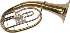 K Glaser Bb Tenor Horn 3 Ventile, Goldmessing Mundrohr, Kugelgelenke, Koffer