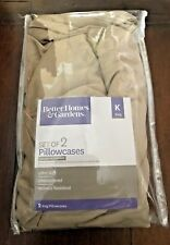 Better Homes & Gardens Set of 2 Pillowcases Color Brown Stone