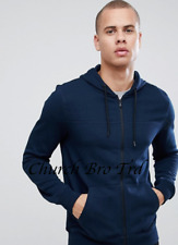 New Burton Menswear zip through hoodie in navy RRP £22