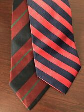 Lot of 2 Vintage Mens 100% Silk Classic Striped Ties Brooks Brothers, Lands End