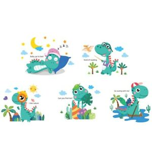 Dinosaur wall stickers wallpaper bedroom child Decal cartoon for Kids Rooms