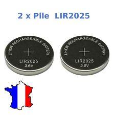 lot 2 Accu piles rechargeable LIR2025 3.6V Li-ion coin battery LIR 2025 batterie