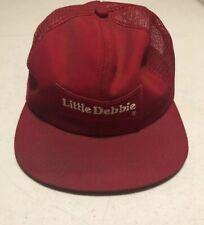 Vintage Little Debbie Trucker Hat Rare Cap Red Snapback  c39
