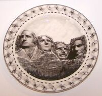 """LOVELY 222 FIFTH SLICE OF LIFE MOUNT RUSHMORE KENT BARTON 8"""" SALAD PLATE"""
