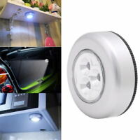 3 LED Light Battery Powered Stick Tap Touch Light Lamp Car Home Cabinet