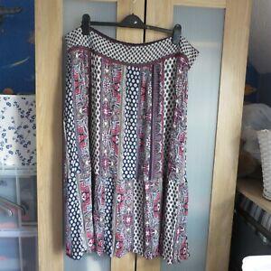Monsoon, XXL elasticated waist Multicoloured skirt