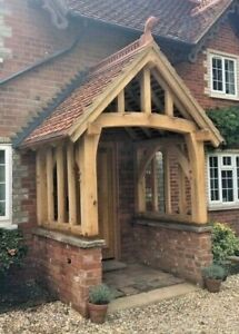 PORCH in solid oak. Hand Made in easy kit form to individual size and design.