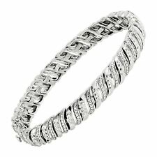 "Finecraft 1/4 Ct 7"" Diamond Tennis Bracelet"