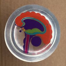 Vintage Psychedelic Brain Perspex Paperweight 1960s Psychedelic Art Nouveau