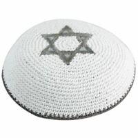 Kippa crochetée étoile de David ethnique traditionel yamaka DOREE Mitzvah juive