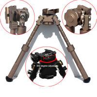 "Rifle Bipod CNC QD Tactical Picatinny Rail 4"" - 9"" Bipod Flat Adjustable"