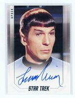Star Trek Inflexions Leonard Nimoy as Spock Bridge Crew Auto Autograph Card
