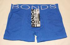 Bonds Mens Olympus Blue Cotton Rich Seamfree Trunk Brief Size M New