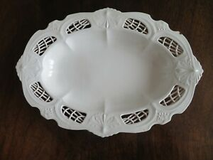 ANTIQUE EARLY 19THC CREAMWARE DISH C1810 LEEDS  OR LIVERPOOL- FAN DECORATION