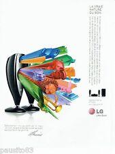 PUBLICITE ADVERTISING 116  2008  LG  système audio  par Mark Levinson