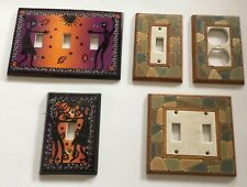 5 Beautiful Ceramic Hand Made Light Switch Plates & Outlet Covers