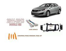 Fits KIA OPTIMA 2011-2013 Car Stereo Double DIN Dash Kit, Wire Harness