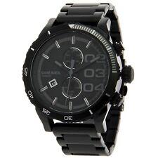 New DIESEL Men's Double Down 48 Black Stainless Steel Bracelet Watch DZ4326