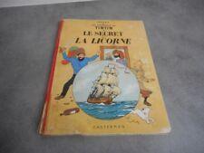 BANDE DESSINEE HERGE TINTIN LE SECRET DE LA LICORNE CASTERMAN 1947 N° 2