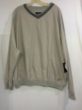 IVY CLUB Men's  XL Golf Sport  Sweatshirt Pullover V-neck Beige (l)
