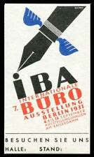 Germany Poster Stamp - 1931, Berlin - 7. Internationale Büro Ausstellung