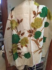 Vintage!1960's From London Floral Water Repellent Treated Rayon Scarf
