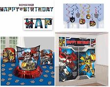 NEW Transformers Birthday Pack (Banner, Wall Poster, Swirls & Table Decor Kit)~