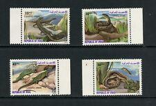 New listing U191 Iraq 1982 fauna snakes lizards reptiles 4v. Mnh