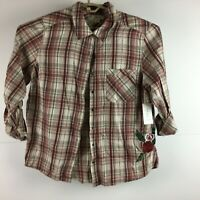 Style & Co Womens Plaid Button Up Shirt *NWT*