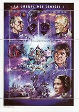 Mali 1997 MNH Star Wars Luke Skywalker Han Solo Darth Vader 9v M/S Stamps