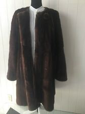 $14595.00 High Quality Natural Long Hair Mink Fur Coat Size L Fur Origin USA