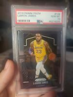 LeBRON JAMES 2019-2020 Panini Prizm PSA 10 Gem Mint 129 Base Card LAKERS