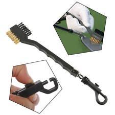 2 Sided Brass Wires Bristles Brush Nylon Golf Club Ball Brush Cleaning Brushes