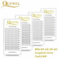 Quewel® Lash 12 Lines 3D/4D/5D/6D Heat Bonded Pre Made Volume Fans Faux Mink