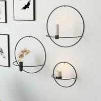 Metal Candle Holder Base Round Candlestick Wall Mount Decor Wedding Table Sconce
