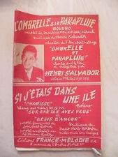 Partition L'Parasole e la ombrello Henri Salvador Si ero dans una ile