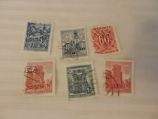 Lot of 6 Austria Stamps  Republik Osterreich Buildings