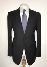 $950 Alfred Dunhill Grey Wool Suit Jacket Peak Lapel Blazer Coat 40R 50R boss